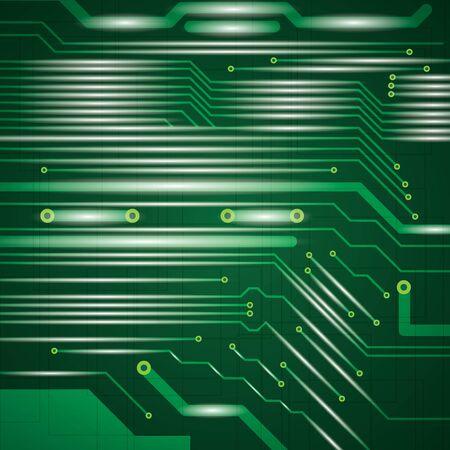 company board: Abstract vector futuristic circuit green background