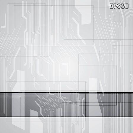 company board: Abstract vector futuristic circuit silver background Illustration