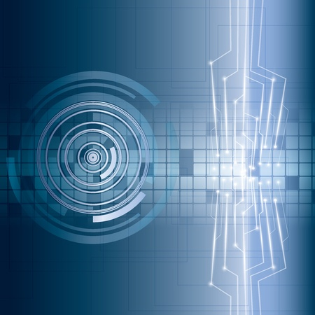 Abstract vector futuristic circuit blue background Vector