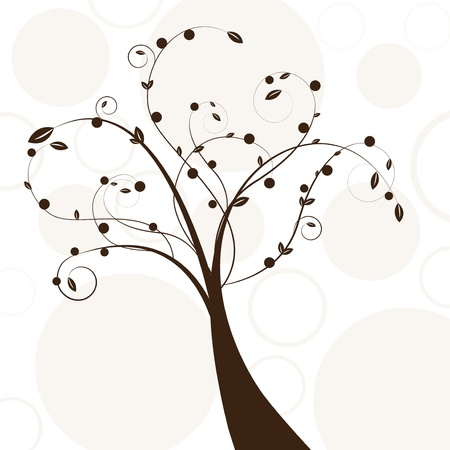 Résumé bel arbre créatif brun conception