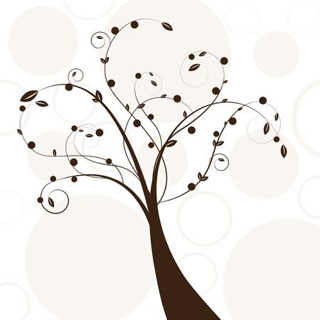 arbol geneal�gico: Resumen hermoso �rbol de dise�o creativo marr�n