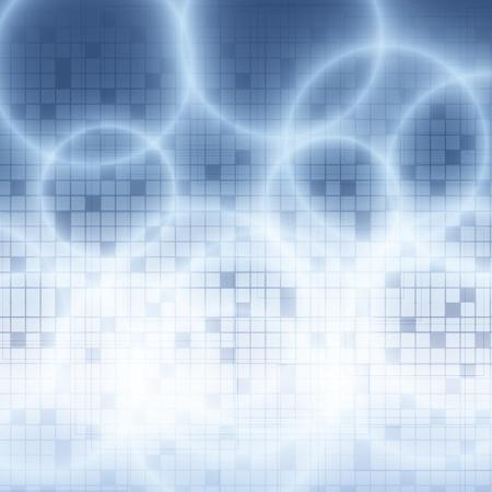 Fond bleu abstrait avec des cercles technologie