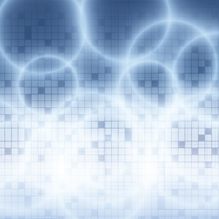 Blue abstract tech background with circles Vectores