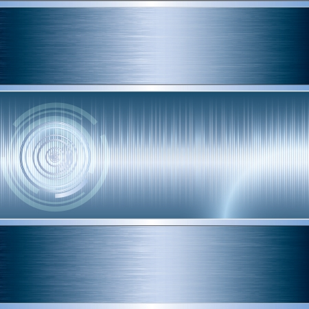sound wave: Blue abstract tech metal background