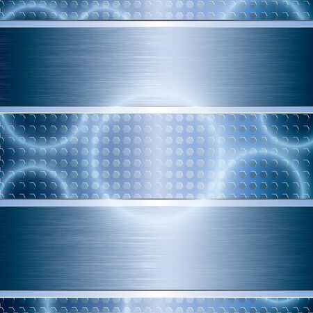 Blue abstract tech metal background Stock Vector - 17923613