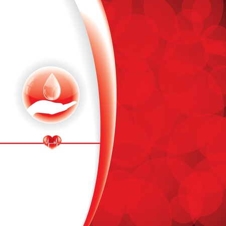 Abstract red medical background Vector
