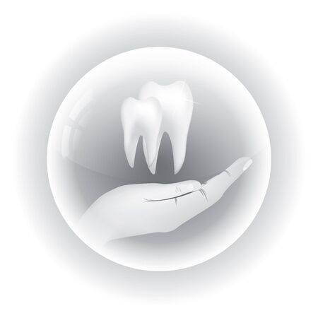 Abstract dental illustration of teeth Stock Vector - 17923619