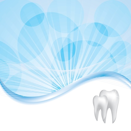 blue pills: Abstract dental illustration of teeth