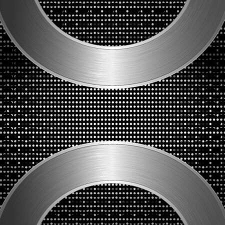 electric grid: Silver abstract tech grid metal background