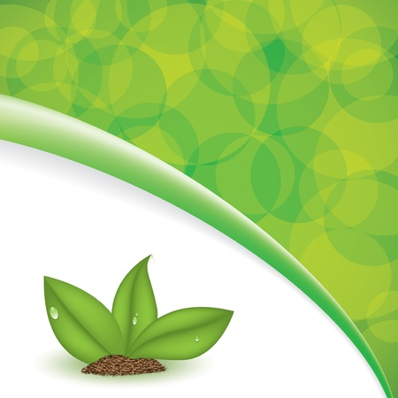 Green plant natural background eco Stock Vector - 17923640