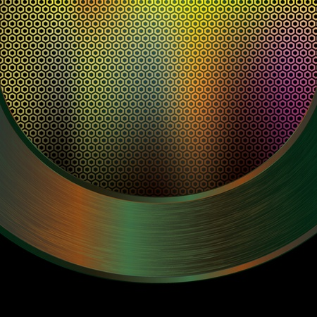 Abstract tech grid metal background Vector