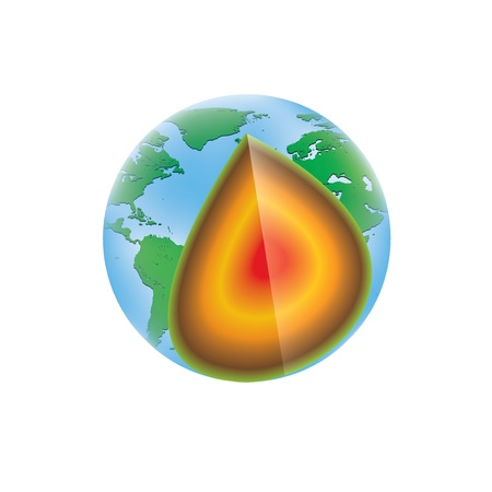 kilometer: Earth layers structure isolated model