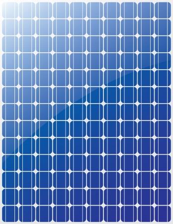 solar cells: Solar panel blue stripes Illustration