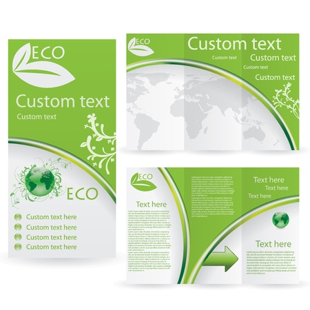 Vector Brochure Layout Design Template green environmental Stock Vector - 18868778