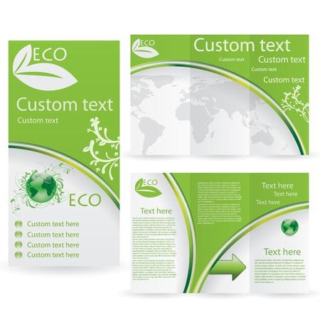 newletter: Vector Brochure Layout Design Template verde ambientale Vettoriali