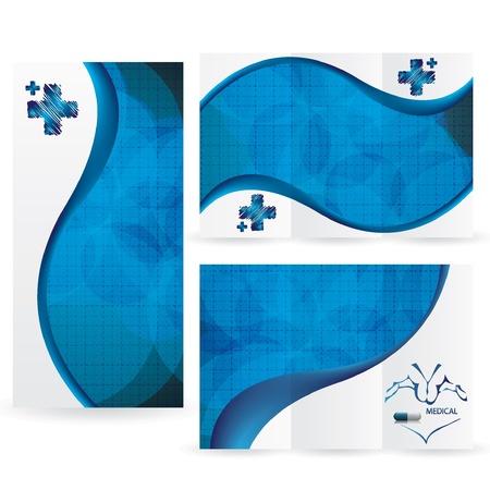 Vector Brochure Mise Design Modèle bleu médicale Illustration