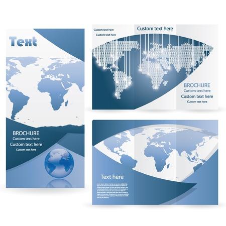 terra: Vector Brochure Layout Design Template business