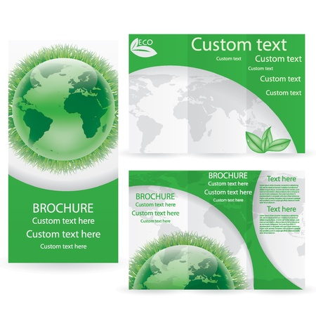 Vector Brochure Layout Design Template green environmental Vector