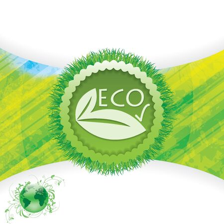 Natural background eco sign green Vector
