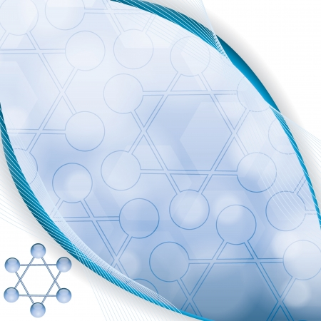 Abstract molecule blue background Stock Vector - 19250205