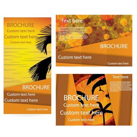 Vector Brochure Layout Design Template summer