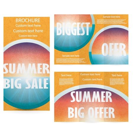 Vector Brochure Layout Design Template summer sale Vector