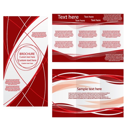 progression: Vector Brochure Layout Design Template abstract