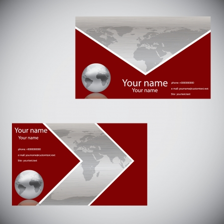Vector abstract creative business cards template Vector
