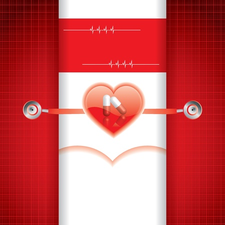 Abstract red grid medical background Stock Vector - 19551171