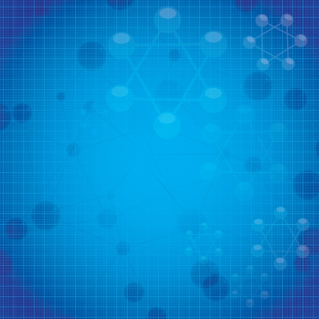 Abstract molecule blue background Stock Vector - 19551148