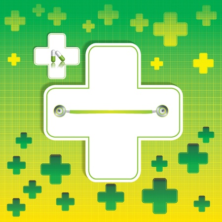 Abstract green grid medical background Stock Vector - 19973708