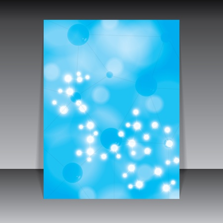 Abstract molecule blue background Stock Vector - 19973674