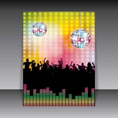dancing disco: Disco Party colorful Background