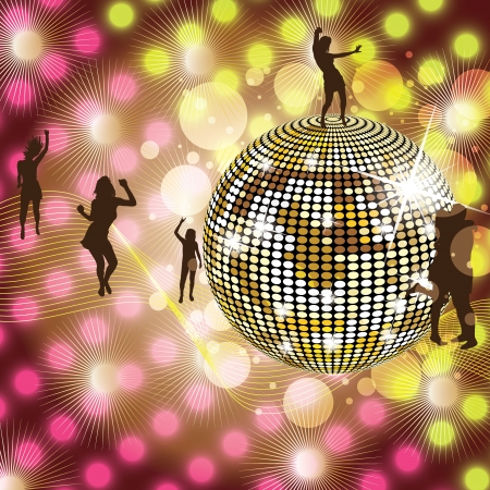 abstract dance: Disco Party colorful Background