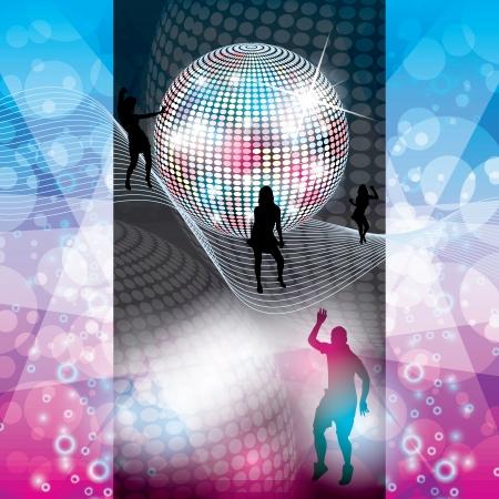 Disco Party de fond color�