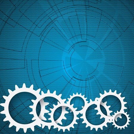 Abstract gear futuristic background Stock Vector - 19973830