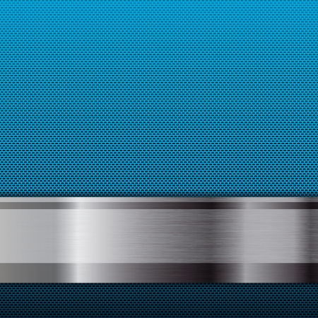 Abstract metallic grid background blue Illustration