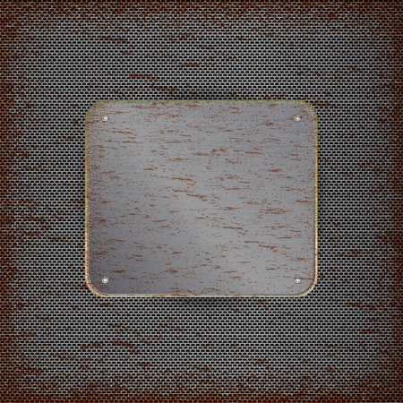 dilapidated: Background with rusted metal texture Illustration