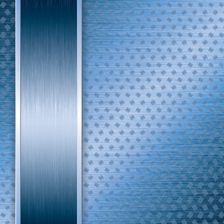 Blue abstract tech metal background Stock Vector - 19973809