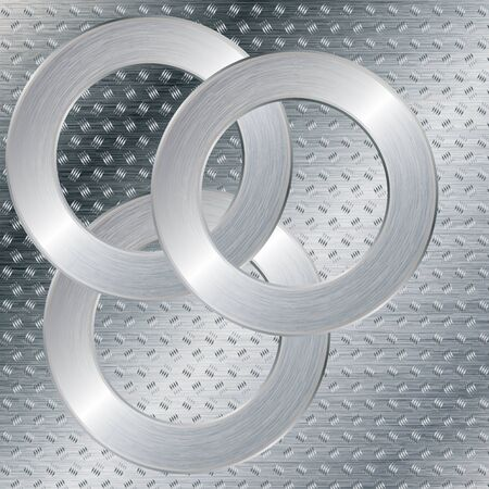 Silver abstract tech metal background  Vector