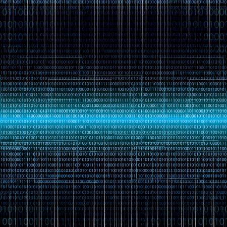 Abstract tech binaire blauwe achtergrond Vector Illustratie