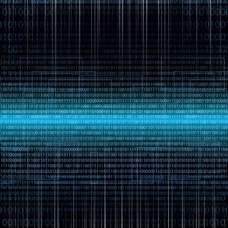 digital number: Abstract tech binary blue background Illustration