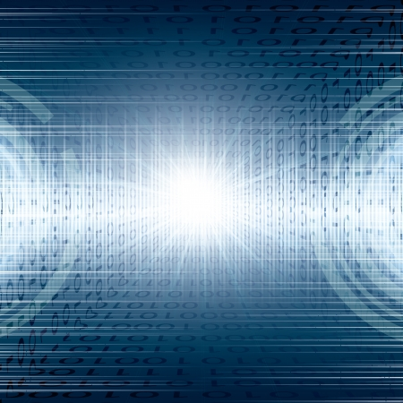 Abstract tech binary blue background Vectores