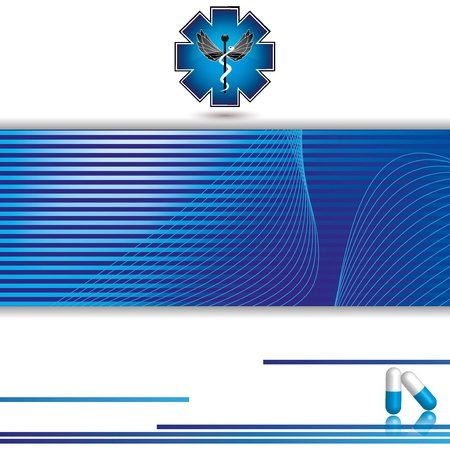 Abstract blue stripe medical background Stock Vector - 19973801