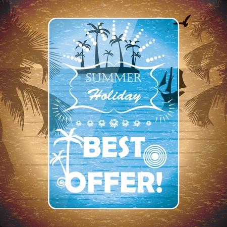 travel background: Summer brochure background