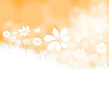 Summer bright flower spring background Stock Vector - 19973787