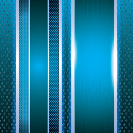 Abstract metallic grid background blue Vectores