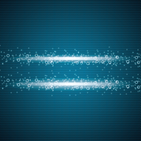 Abstract metallic grid background blue Vector