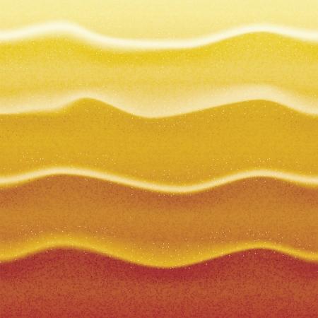 Realistic sand in sunset lights Illustration