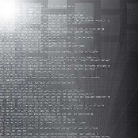 binary matrix: High tech binary number abstract silver background